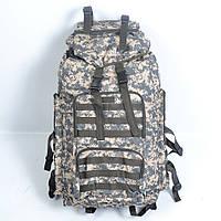 Тактичний камуфльований  рюкзак  на  65 л (Піксель  буря)