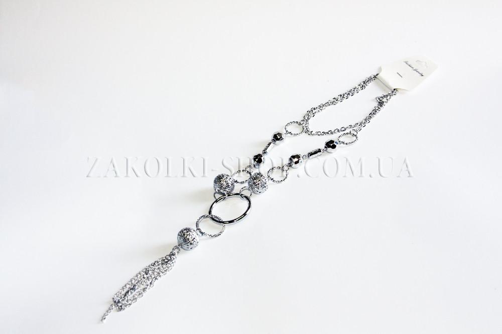 Біжутерія оптом; Намисто метал, срібло, асорті, 12 шт.