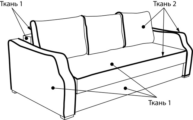 Схема заказа дивана Роберт мех., шагающая Еврокнижка
