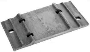 Подкладка Д-65 ГОСТ  8194-75 костыльного скрепления к рельсам типа Р-65