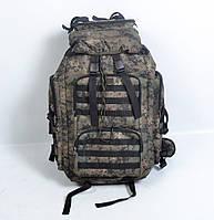 Тактичний камуфльований  рюкзак  на  65 л (Піксель  болото)
