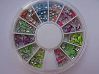 Металлостразы для ногтей 6 цветов