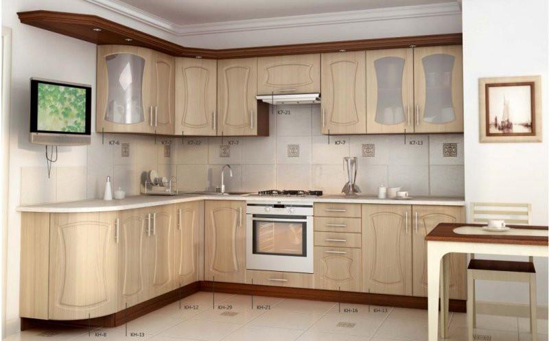 """Кухня угловая МДФ, эконом стандарт-3 Фабрика """"Мебель дисконт"""""""