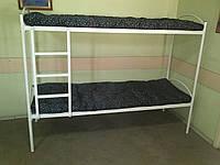 Кровать металлическая двухъярусная для хостела, общежитий