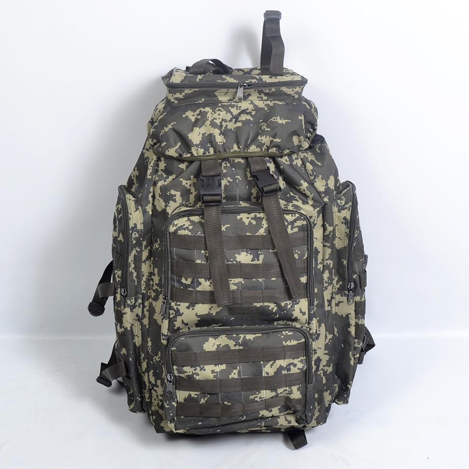 Тактичний камуфльований  рюкзак  на  75 л (Піксель  ліс)