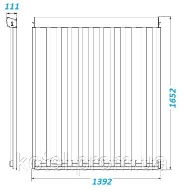 Габаритные размеры вакуумного коллектора Vaillant VTK 1140/2