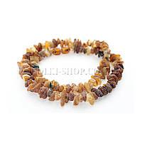 Бижутерия натуральные камни; Бусы янтарь необработанный, 1 шт.
