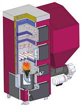Твердотопливный котёл с автоматической подачей топлива ZAR WYGODA - R (Жар Выгода), фото 3