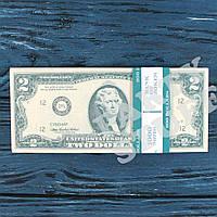 Сувенирные деньги 2 доллара, фото 1