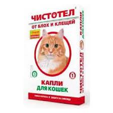 Капли  Чистотел от блох и клещей для котов