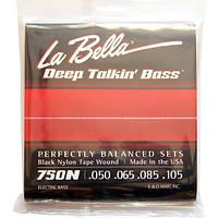 Струны La Bella Black Nylon Tape Wound Bass 750N Light 50-105