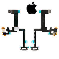 Шлейф для Apple iPhone 6 Plus, кнопки включения, вспышки, с микрофоном, оригинал