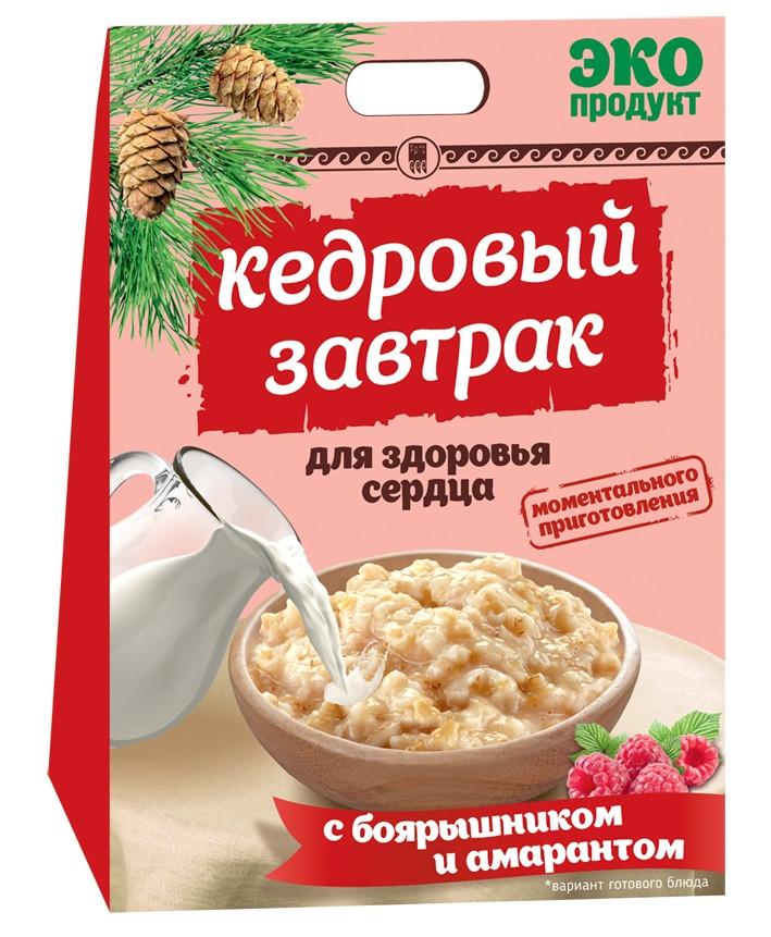 Кедровий сніданок для здоров'я серця з глодом і амарантом