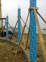 Картонна опалубка  діаметром 315мм*3000мм для залізобетонних колон