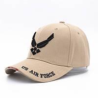 Бейболка бежевая  с логотипом ВВС Авиация