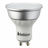 Светодиодная лампа GU10 3W 200Lm Bellson Прозрачная (Теплый Белый)