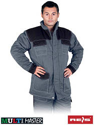 Куртка рабочая зимняя серая REIS Польша (рабочая утепленная куртка) MMWJL SB