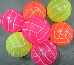 Мяч детский резиновый волейбол  d 17 см, фото 3