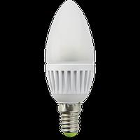 LED лампа E14 6W Bellson Матовая (Теплый Белый)