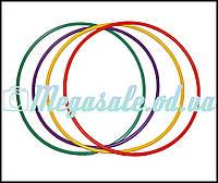 Обруч пластмассовый для гимнастики и фитнеса: 65см, микс цветов