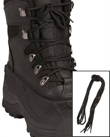Шнурки черные, 140 см  Mil Tec Sturm (Германия) , фото 2