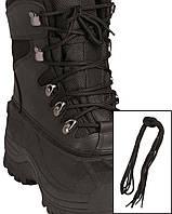 Шнурки черные, 140 см  Mil Tec Sturm (Германия)
