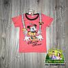 Розовая футболка Minni для девочки