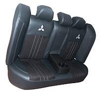 """Авто чехлы MITSUBISHI   Lancer X """"Нубук Серый"""" 2007-2011"""
