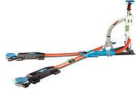 Трек Хот Вилс Бесконечные трюки и испытания Hot Wheels Track Builder System Stunt Kit Playset DLF28
