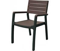 Стул Harmony armchair Серый с коричневым