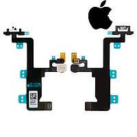 Шлейф для Apple iPhone 6, кнопки включения, вспышки, с микрофоном, оригинал