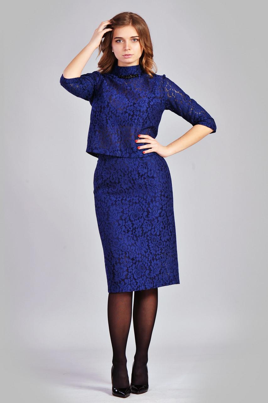 Женский классический комплект  синего цвета