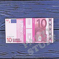 Пачка сувенирных денег 10 евро, фото 1