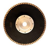 Алмазный диск Турбо волнистый d230 мм, фланец