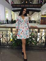 Летнее платье с поясом м-4043