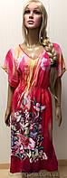 Платье-сарафан из штапеля для пляжа и дома размер 48-52