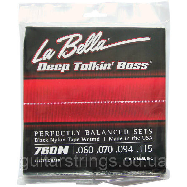 Струны La Bella Black Nylon Tape Wound Bass 760N Standard 60-115