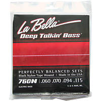 Струны La Bella Black Nylon Tape Wound Bass 760N Standard 60-115