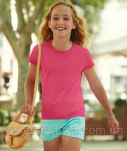 Малиновая футболка для девочек (Премиум)