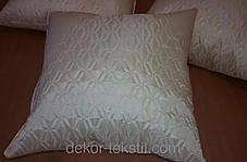 Подушка однотонная Софт, размер 40х40см (наволочка+подушка), фото 2