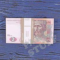 Сувенирные деньги 2 гривны, фото 1