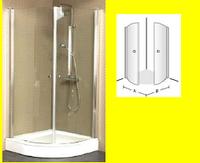 Frame to Frame душевой уголок полукруглый 90х90 см, проз/хром UDW9090SKA160V-61
