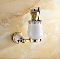 Держатель стаканов для зубных щеток Greek Pattern Gold