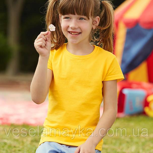 Желтая футболка для девочек (Комфорт)