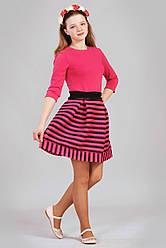Очаровательное розовое  подростковое платье