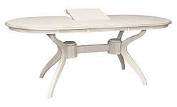 Обеденный стол из натурального дерева овальный
