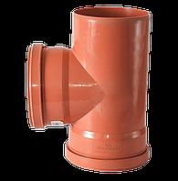Тройник для канализации 110/110/90 для наружных работ Европласт