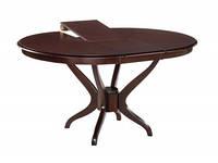 Обеденный круглый стол из натурального дерева