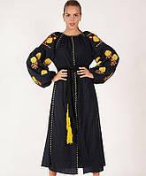 Женское вышитое платье в стиле бохо «Розы Валентино», фото 1