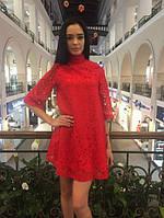 Гипюровое платье с-4048